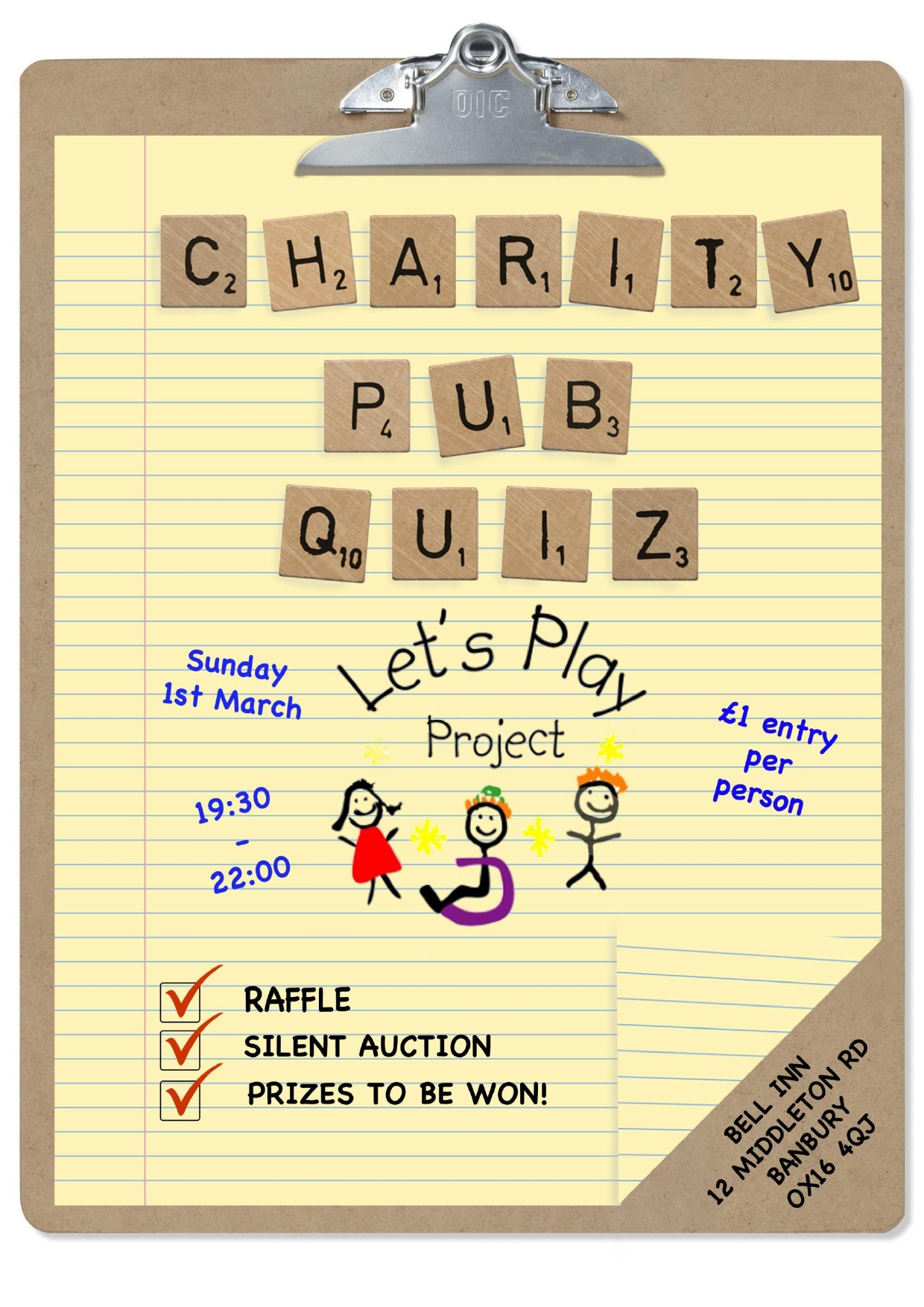 Charity Pub Quiz for Let's Play